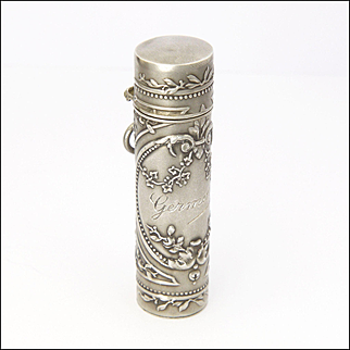 French Antique Silver Perfume Flacon