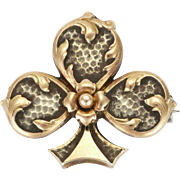 French Antique Silver and Gold Fleur de Lis Pin