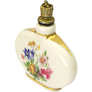Swiss Ceramic Alpine Flowers Perfume Flask - Cottier Frères