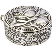 Art Nouveau Jugendstil 800 Silver Rose Box - LEVINGER & BISSINGER - Germany