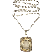 Large 835 Silver and Citrine Pendant Necklace - Germany