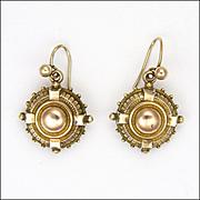 Victorian 9K Gold Earrings for Pierced Ears