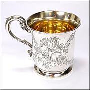 Victorian English Sterling Silver 1867 Christening Mug -Goldsmiths Alliance