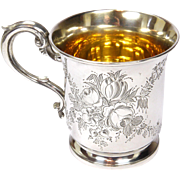 Victorian English Sterling Silver 1867 Christening Mug -Goldsmiths Alliance