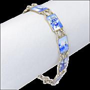 Dutch Delft 835 Silver Enamel Bracelet
