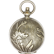 French or Swiss Art Nouveau Plated Brass Coin Holder