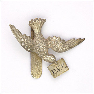 French Antique Silver Swallow Clip