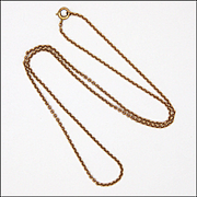 """Victorian 9K Rose Gold Chain - 18"""" - 3.6 grams"""
