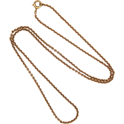"Victorian 9K Rose Gold Chain - 18"" - 3.6 grams"