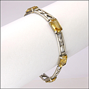 Arts and Crafts 835 Silver and Citrine Bracelet