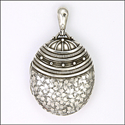 Victorian 1882 Sterling Silver Engraved Locket