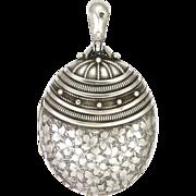 Victorian 1882 Sterling Silver Engraved Locket