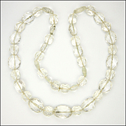 Victorian Rock Cystal Bead Necklace - 25½ inches