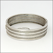 French Antique Silver Bangle/Bracelet