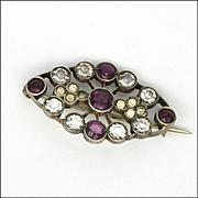 European Antique 800 Silver Pastes Small Pin