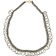 """Victorian Cut Steel Looped Necklace - 17½"""""""