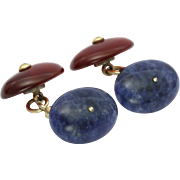 Victorian Carnelian and Agate Cufflinks