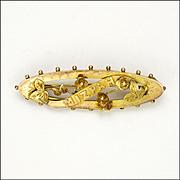 Victorian English 9K Gold 'MIZPAH' Sentimental Pin