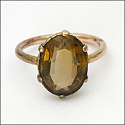 9K Rose Gold Smoky Quartz Ring