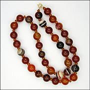 Carnelian Agate Reconstituted Necklace - 21 ¾""