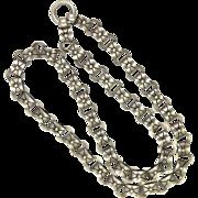 Victorian Circa 1880 Sterling Silver Collar