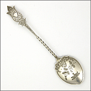 Victorian 1894 Sterling Silver Jam Spoon