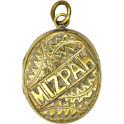 Victorian 'MIZPAH' Gilt Brass Locket
