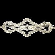 Large Victorian Scottish Sterling Silver Brooch