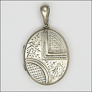 Victorian Sterling Silver Aesthetic Period Birds Locket