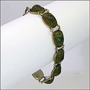 Victorian Egyptial Revival Scarab Beetle Bracelet