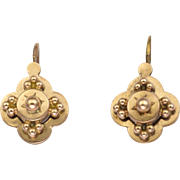 French Antique Gold Filled Lever Arch Earrings - FIX Savard