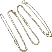 "French Antique Silver Guard Chain - 55"" - 10.7 grams"
