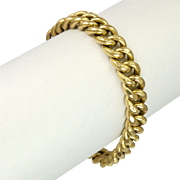 French Gold Filled 'Night and Day' Curb Bracelet - FIX