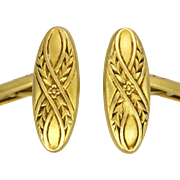 French Antique Gold Filled Cufflinks -ORIA