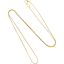 "9K Gold Fine Chain -  17¾"" - 0.7 grams"