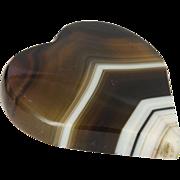 Scottish Sardonyx Agate Large Heart Pin