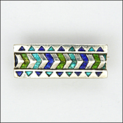 WILLIAM H HASELER for Liberty Antique Sterling Silver and Enamel Pin