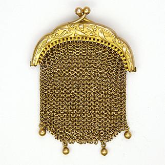French Art Nouveau 'Pomponne' Chain Mail Purse