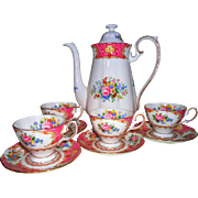 Royal Albert Lady Carlyle Demitasse Coffee Set