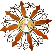 Phinney Walker Atomic Starburst Wall Clock