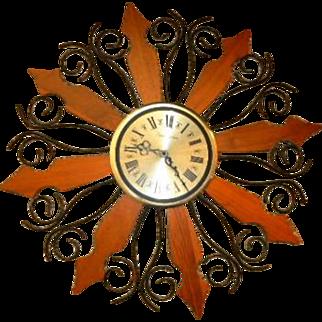 Phinney Walker Atomic Starburst Wall Clock