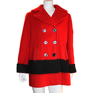 Ladies Red Hudson Bay Coat