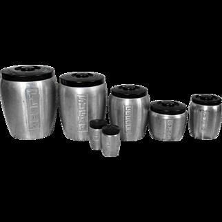 Brushed Spun Aluminum Canister Set