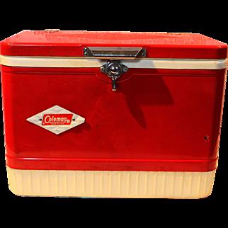 Vintage Coleman Cooler With Diamond Logo