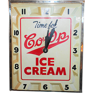 CO-OP Ice Cream Wall Clock
