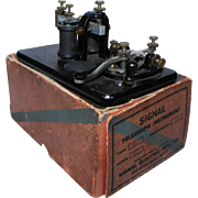 Signal Electric Morse Code Telegraph Key and Sounder