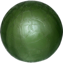 Vintage Green Frosted Globe Lamp Shade