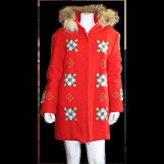 Vintage Ladies Hudson's Bay Winter Coat