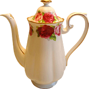 Royal Albert Old English Rose Coffee Pot