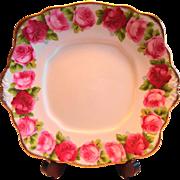 Royal Albert Old English Rose 2 Handled Cake Plate
